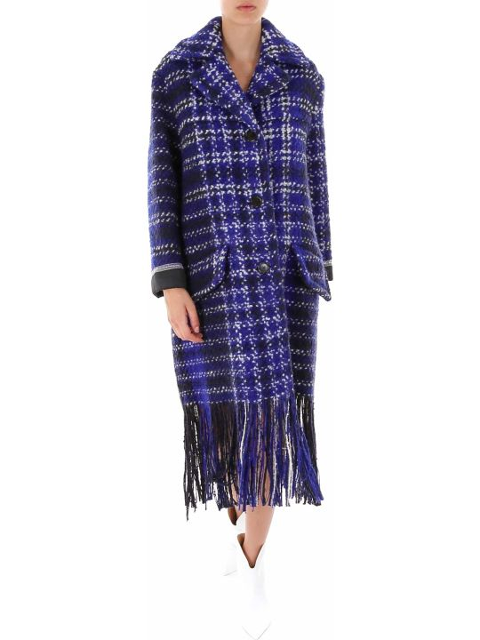 Marni Check Tweed Blanket Coat