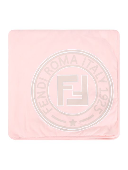 Fendi Pink And Beige Babykids With Rubbred Logo