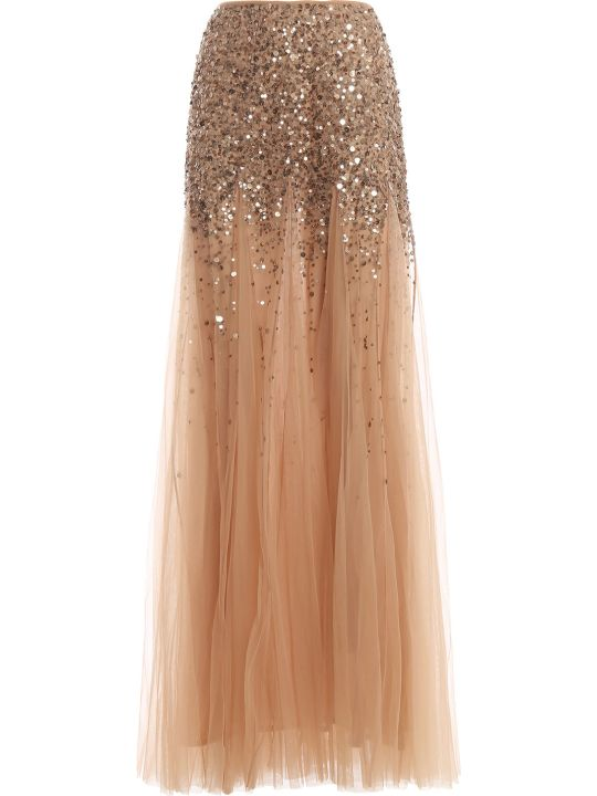 Blumarine Embroidered Long Skirt