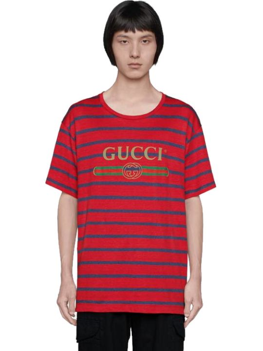 Gucci Striped Short Sleeves T-shirt