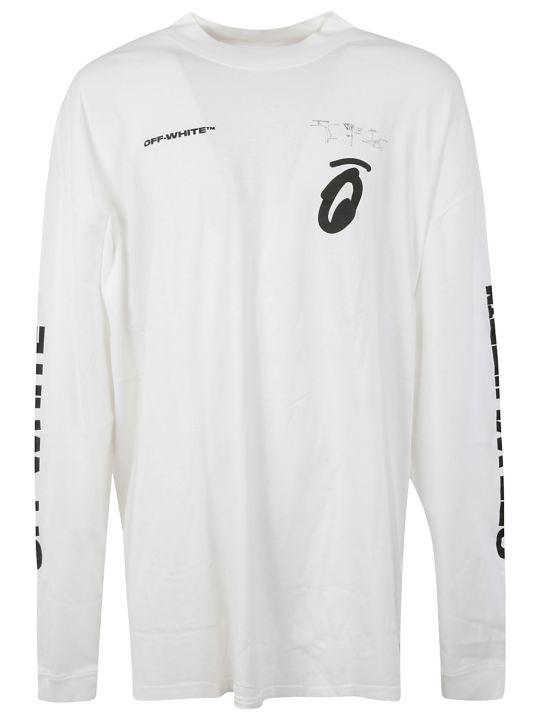 Off-White Split Arrows Over Mock Sweatshirt