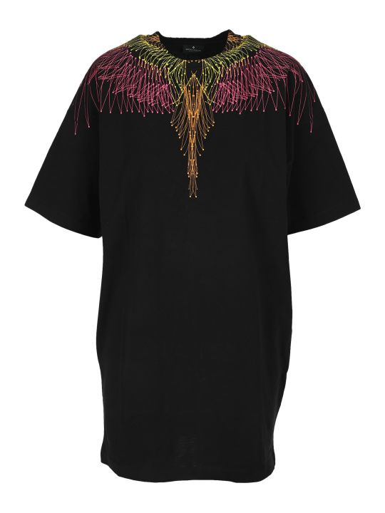 Marcelo Burlon Maxi T-shirt Dress Wings