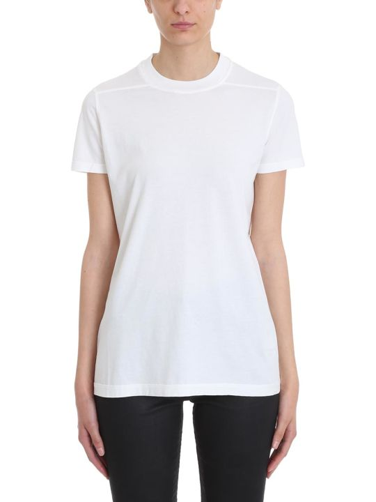 DRKSHDW Ss Crew Level White Cotton T-shirt