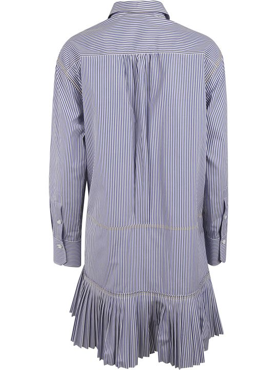 Chloé Stripe Print Pleated Skirt Dress