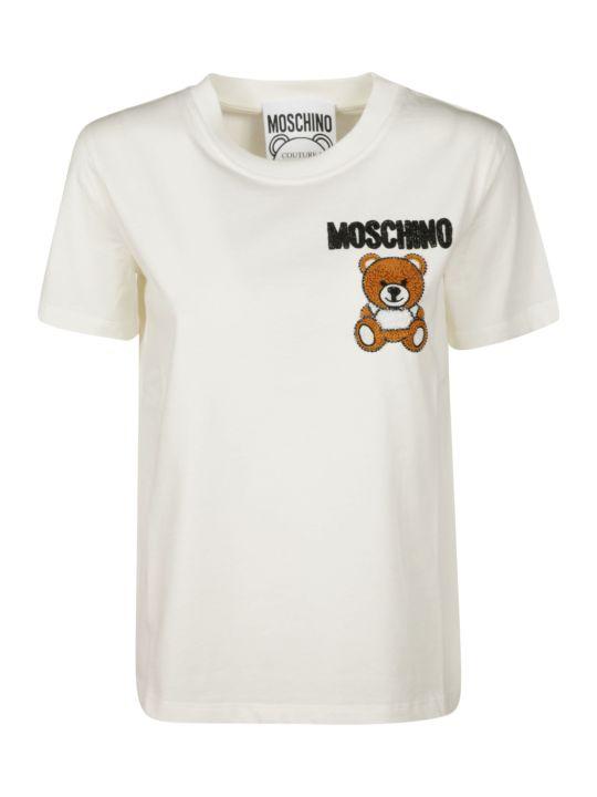 Moschino Logo Bear Patch T-shirt