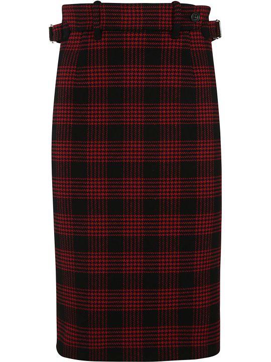 RED Valentino Checked Skirt