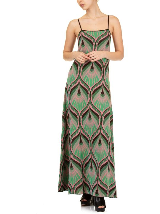 Circus Hotel Lurex Jacquard Dress