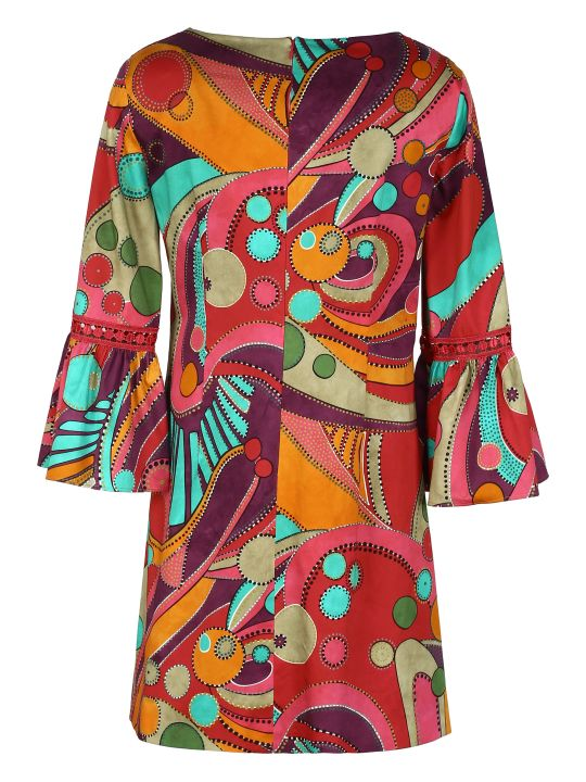 Alberta Ferretti Printed Cotton Dress