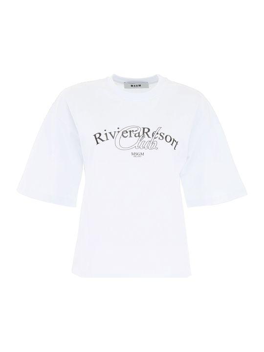 MSGM Riviera Resort Club T-shirt