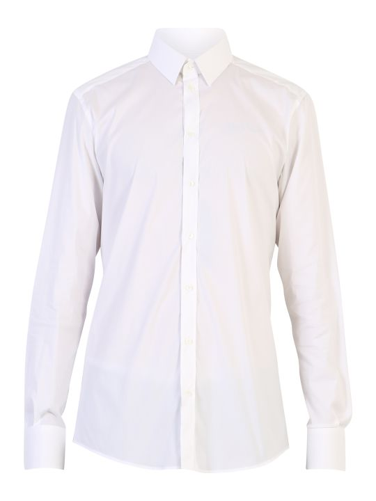 Dolce & Gabbana White Stretch Shirt
