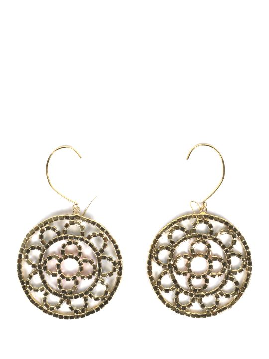 AREA Multicoloured Crystal Crochet Earrings