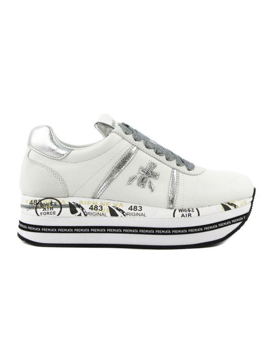Premiata Beth Sneakers In White Leather