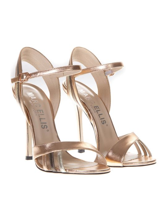 Marc Ellis High Salmon Patent Leather Sandals