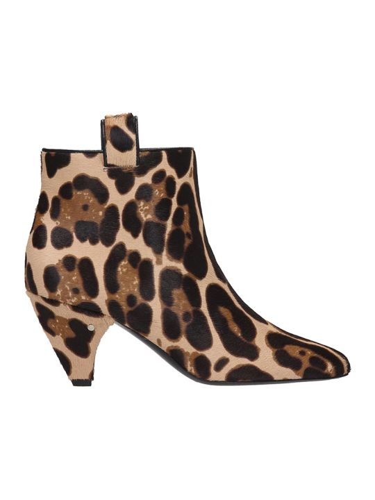 Laurence Dacade Terence Ankle Boots In Animalier Pony Skin