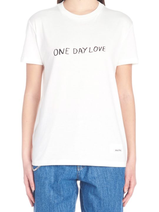 Miu Miu 'one Day Love' T-shirt