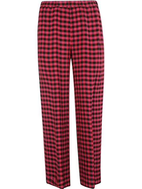 Aspesi Plaid Printed Trousers