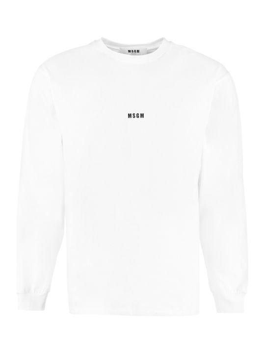 MSGM Printed Cotton T-shirt