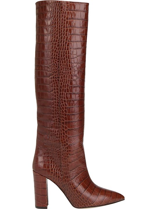 Paris Texas Croco Tall Boots
