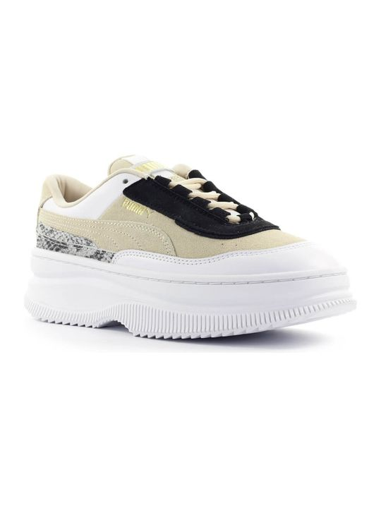 Puma Beige Black White Deva Reptile Sneaker