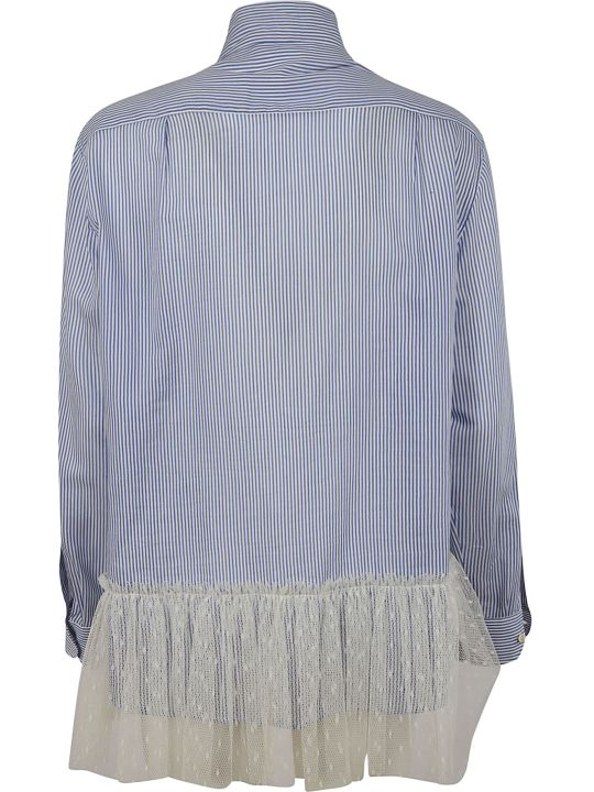 RED Valentino Stripe Lace Bow Shirt