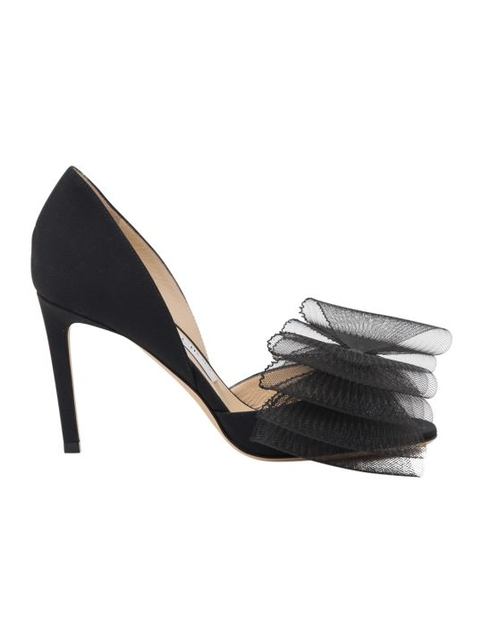 Jimmy Choo Adesu Tulle Bow Pumps