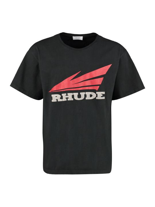 Rhude Printed Cotton T-shirt