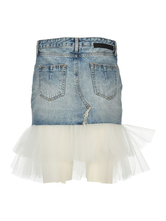 Ben Taverniti Unravel Project Unravel Tulle-panel Mini Skirt