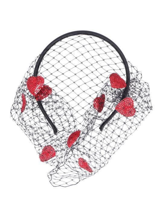 RED Valentino Red Veil Headband