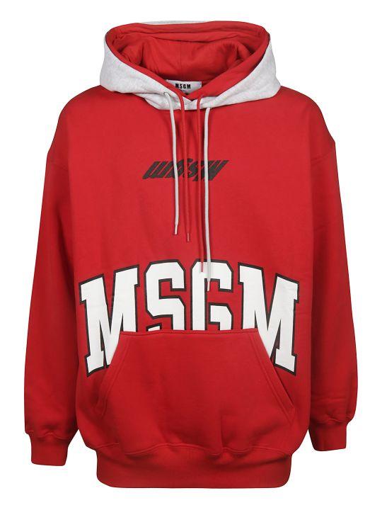 MSGM 2 Logo Front Print Hoodie
