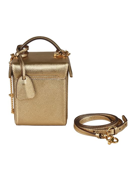 Mark Cross Metallic Box Shoulder Bag