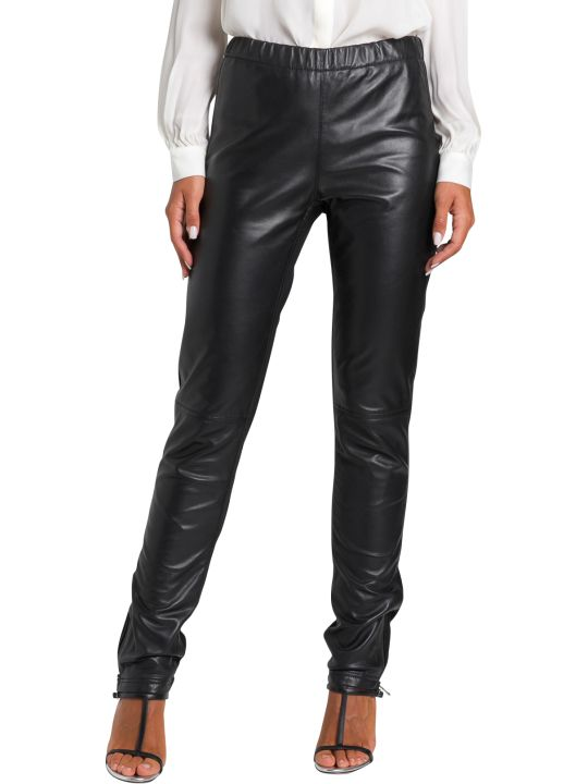 Parosh Leather And Jersey Trousers