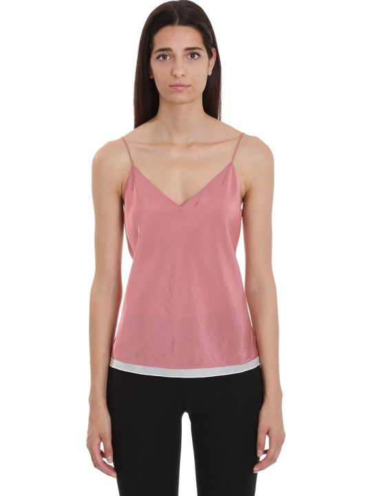 Theory Topwear In Rose-pink Tech/synthetic