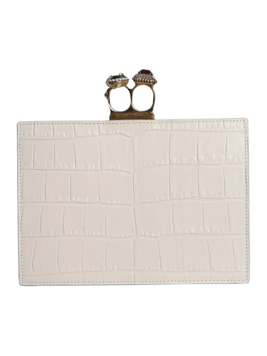 Alexander McQueen Jewel Clutch With Two Rings