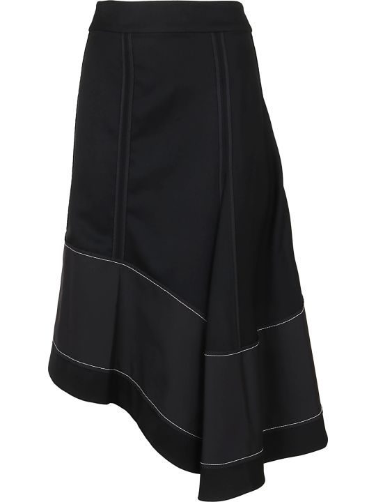 3.1 Phillip Lim High Waisted Wool Flare Skirt