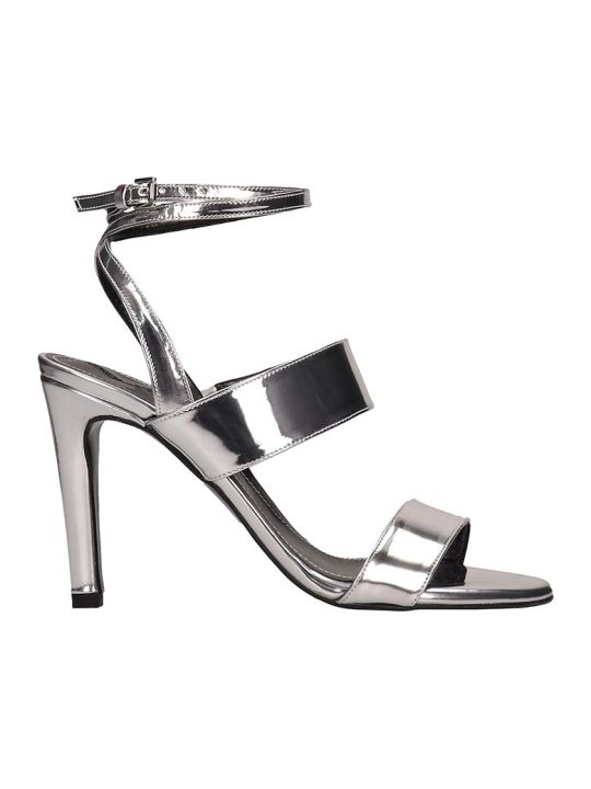 Kendall + Kylie Mikella Silver Leather Sandals