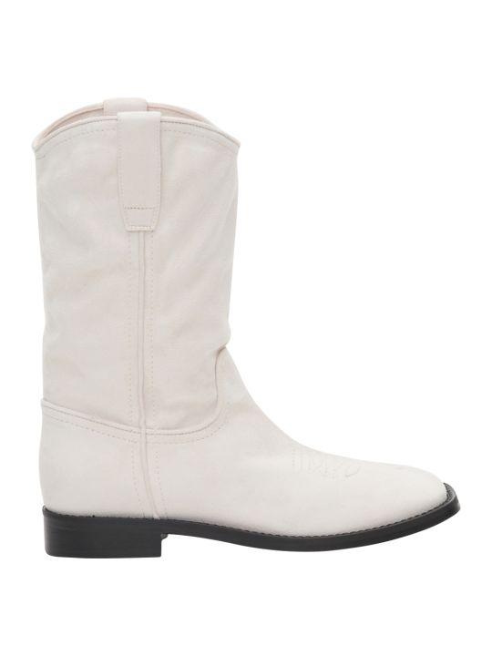 Alberta Ferretti Leather And Suede Bootie