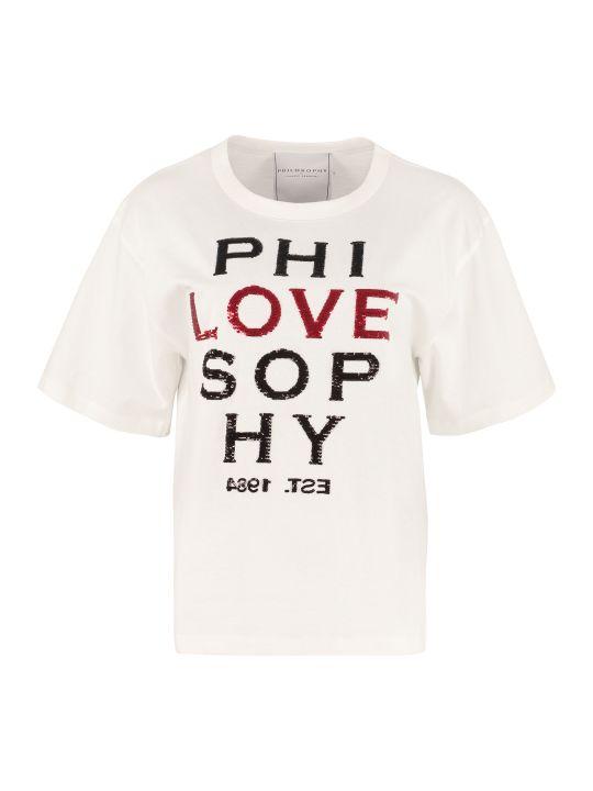 Philosophy di Lorenzo Serafini Embroidered Cotton T-shirt