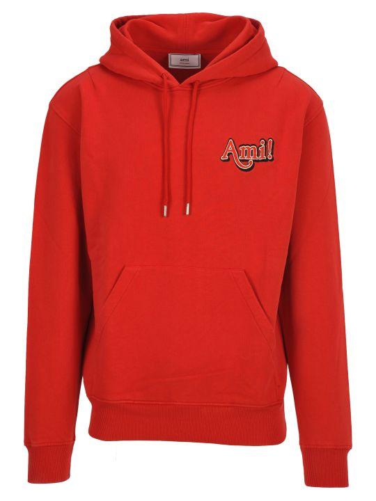 Ami Alexandre Mattiussi Ami Hooded Fleece Ami Logo