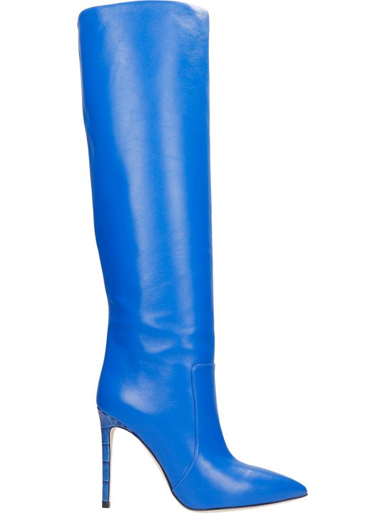 Paris Texas Boots In Blue Leather