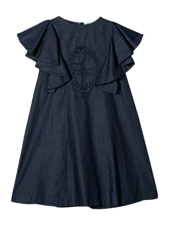 Fendi Blue Girl Dress