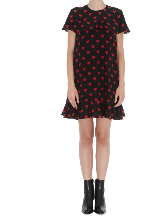 RED Valentino Short Dress With Hearts Print Detail