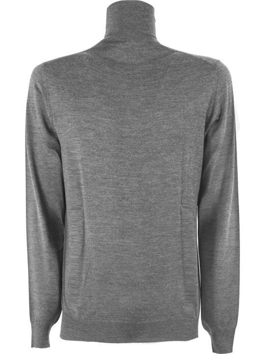 Fedeli Grey Virgin Wool Sweater