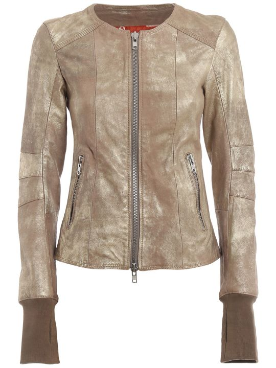 S.W.O.R.D 6.6.44 Zipped Leather Jacket