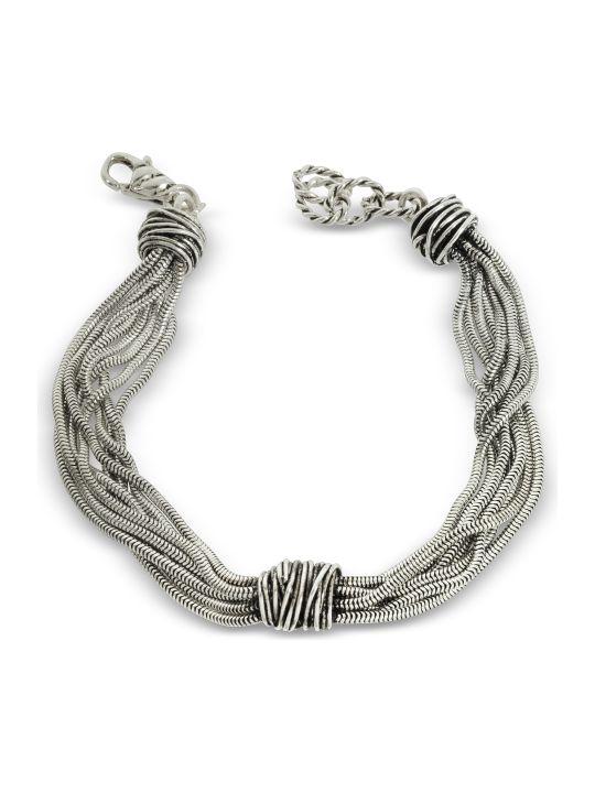 GIACOMOBURRONI Giacomo Burroni Multi Chain Bracelet W/etruscan Knot