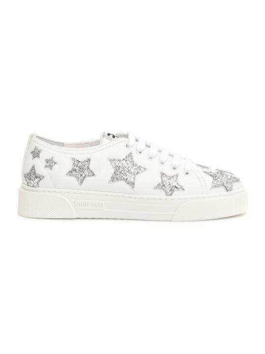 Miu Miu Glitter Star Sneakers