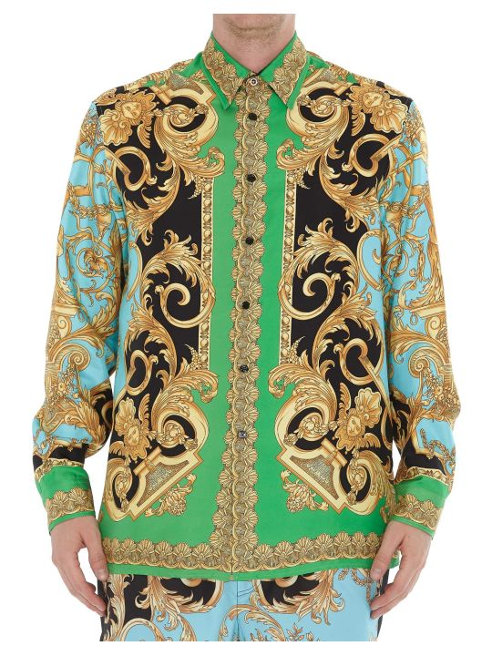 Versace Patterned Silk  Shirt