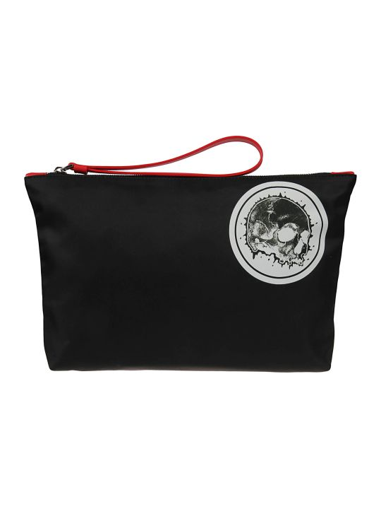 Alexander McQueen Skull Badge Printed Clutch