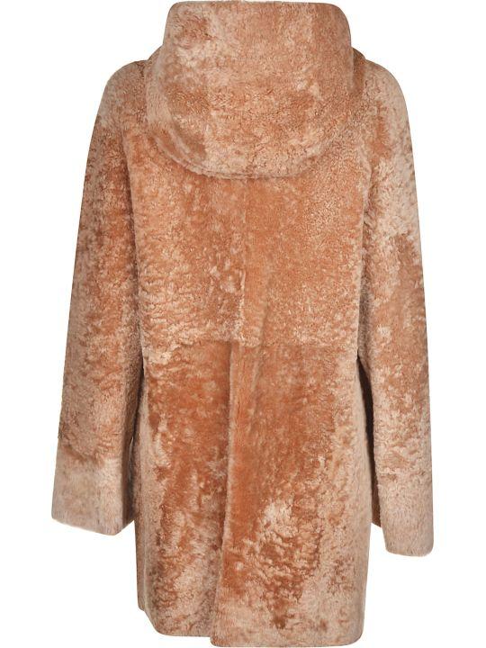 DROMe Fur Applique Hooded Jacket