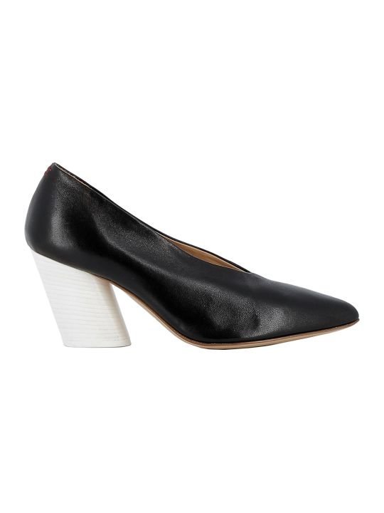 Halmanera Black Leather Pumps