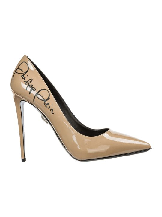 Philipp Plein  Leather Pumps Court Shoes High Heel Signature